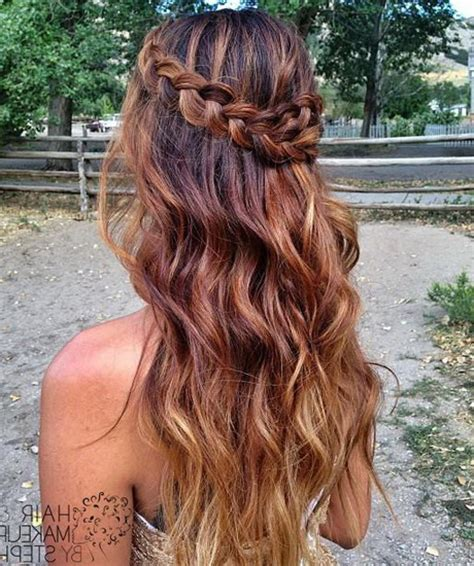 down hairstyles for long thick hair prom hairstyles down 2016