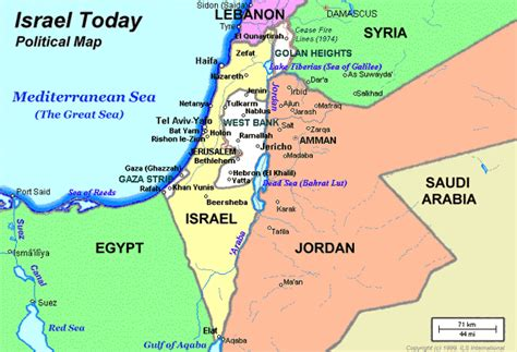 israel map today map israel today