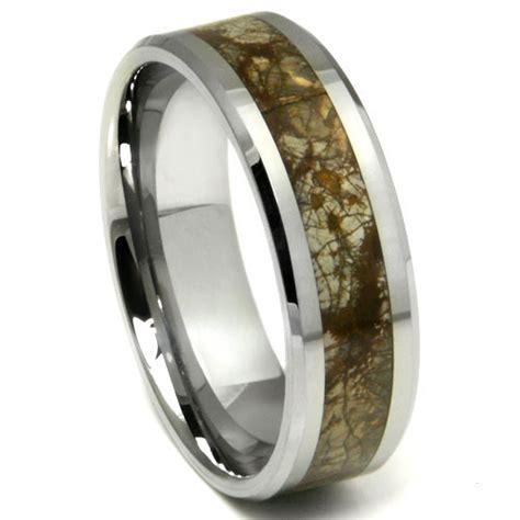 Wedding Band Tungsten Carbide by Tungsten Carbide Earth Riverstone Inlay Wedding Band Ring