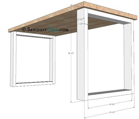 diy office desk plans desk plans and tutorial from sawdust i would leave out the x to save effort diy