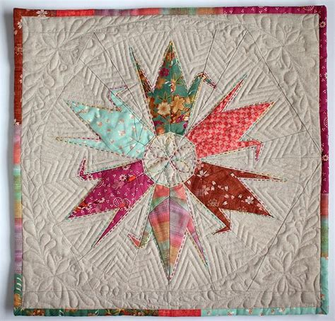 Origami Crane Pattern - paper pieced cranes quilts paper piecing