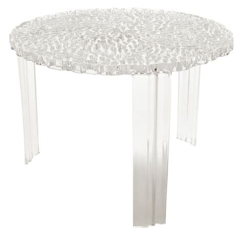 T Tables by T Table Medio Coffee Table H 36 Cm Cristal By Kartell
