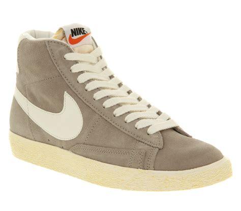 nike blazer high suede vintage sneakers nike blazer hi suede vintage in gray for lyst