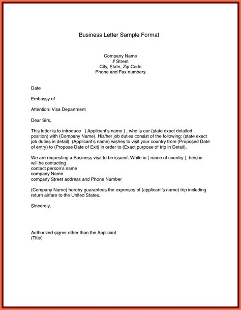 business letter format and sle business letters format in 28 images business letter