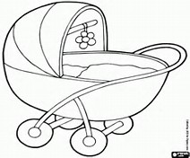 bob the builder push carts baby carriage outline people coloring