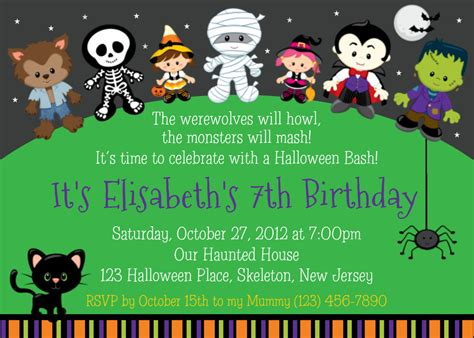 design halloween party invitation card halloween birthday party invitations theruntime com