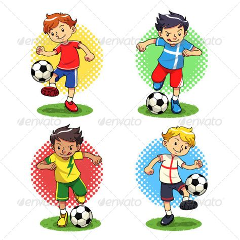 soccer kids by memoangeles graphicriver retro boys 187 tinkytyler org stock photos graphics