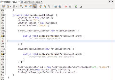 javax swing jbutton ventana de login para netbeans platform parte 2