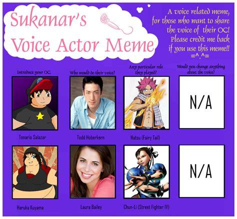Meme Voice - voice actor meme 2012 remade by tufftony on deviantart