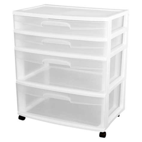Carts And Drawer Storage Sterilite 174 Ultra 4 Drawer Storage Cart White Target