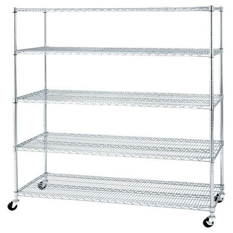 seville classics 5 shelf ultrazinc steel wire shelving