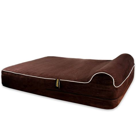 orthopedic dog beds large dog bed orthopedic memory foam with pillow brown extra