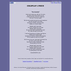 coldplay the scientist lyrics he scientist lyrics images frompo 1