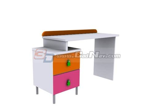 child study table children study table 3d model 3dmax files free