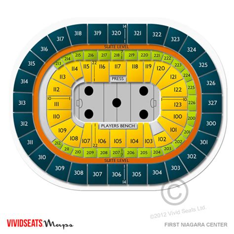 buffalo sabres seating chart with seat numbers niagara center 3d seating chart keybank center