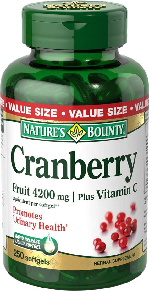 Suplemen Cranberry Nature S Bounty Cranberry Fruit 4200mg Plus