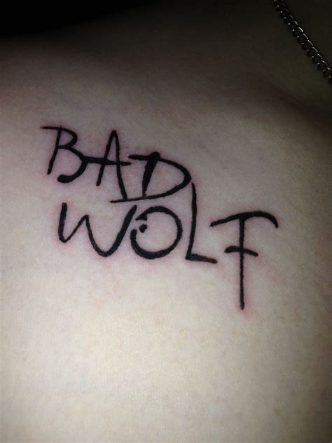doctor tattoo dr who doctor who my new bad wolf