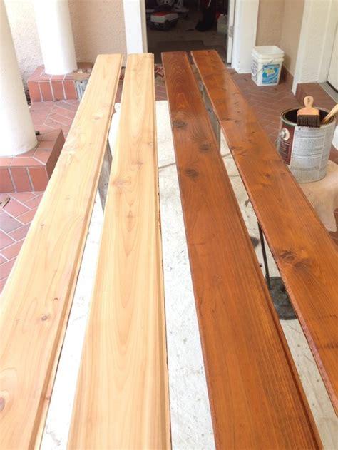 type  stain     cedar ceiling