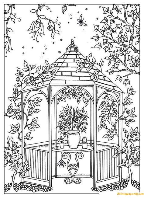 beautiful garden coloring page a beautiful garden coloring page free coloring pages online