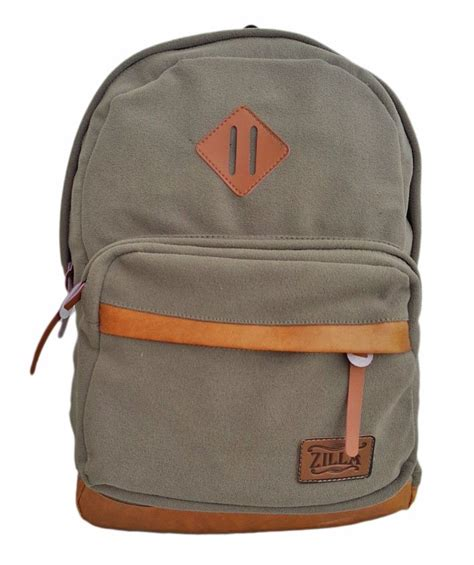 Tas Fashion Selempang Trendy High Quality C372 Khaki zilla suede unisex backpack tas ransel suede quality