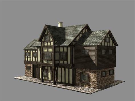 3d house builder 3d max building medieval house