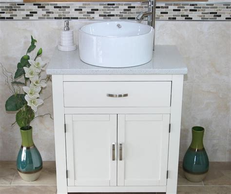 Free Standing Vanity Units Bathroom Bathroom Vanity Unit Free Standing White White Quartz Ceramic Basin Ebay