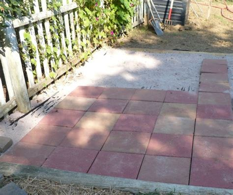 The Patio In The Vegetable Garden A Cultivated Nest How To Lay Pavers For Patio