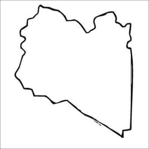 Libya Map Outline by Bumper Sticker With Africa Map Quot Black And White Quot Libya Outline Area Geograpy Region Land