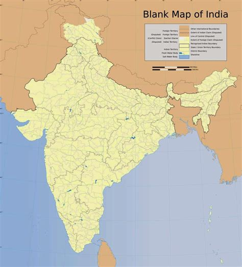 printable version of india map blank map of india free printable maps