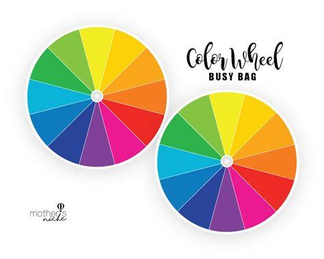a color wheel color wheel busy bag plus free printable