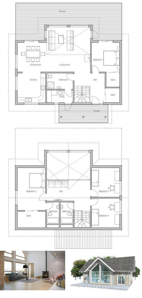 vaulted ceiling floor plans small house plan with four bedrooms vaulted high ceiling