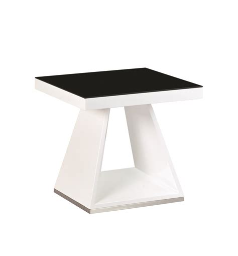 white high gloss end table white high gloss black glass l side table homegenies