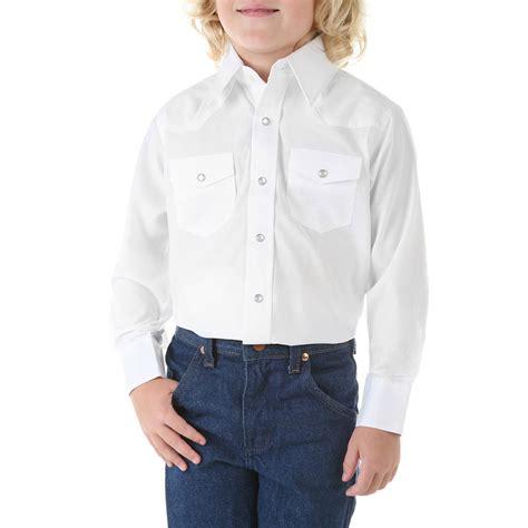 shirt boys boys white sleeve dress western snap shirt