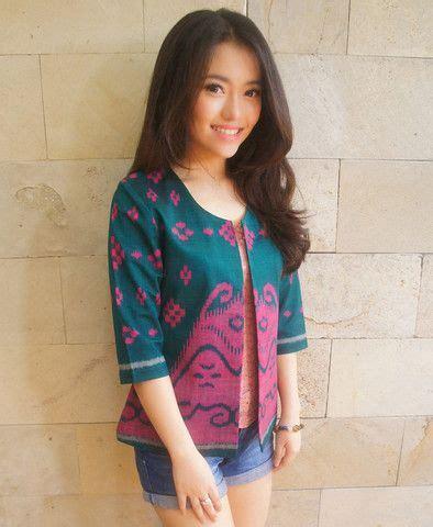 Tenun Blazer tenun classic blazer tosca pink batik kultur tenun