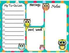 owl to do list printable owl by deliamolinario on pinterest owls burlap owl and