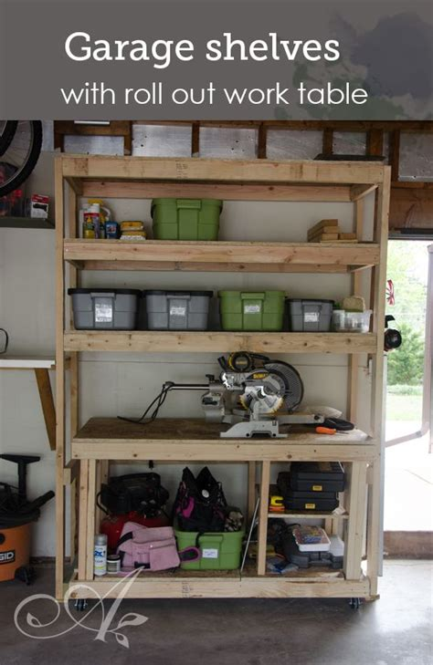 garage storage made with 2x4s and plywood diy shelves