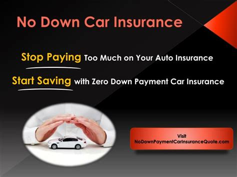 PPT   Cheap No Down Payment Auto Insurance PowerPoint