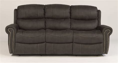 Recliner Sofa Fabric Flexsteel Living Room Fabric Reclining Sofa 1396 62 S Furniture Kewanee Il