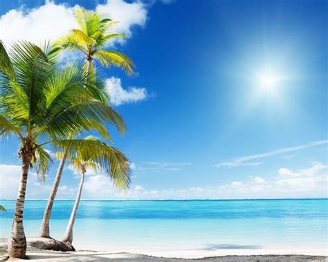 beach wallpaper 1280x1024 tropical beach desktop pc and
