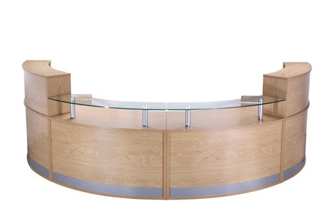 Oak Reception Desk New Used Office Furniture Glasgow Oak Reception Desk