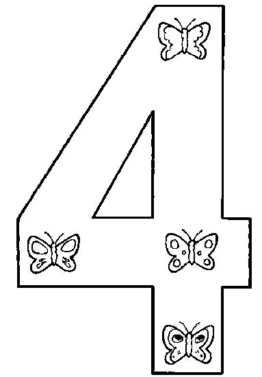 templates for pages 4 4 number 4 coloring page getcoloringpages com