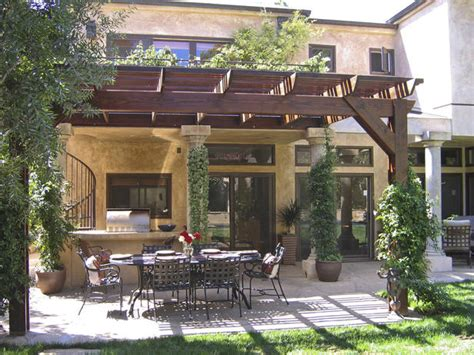 tuscan pergola rooms and spaces design ideas photos of kitchen bath