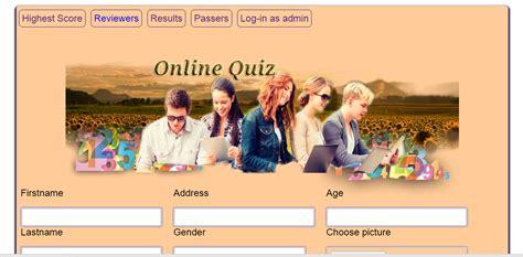 vail online tutorial quiz simple online quiz free source code tutorials and articles
