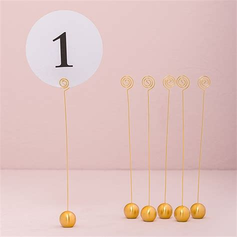 gold table number holders brushed gold table number holder the knot shop