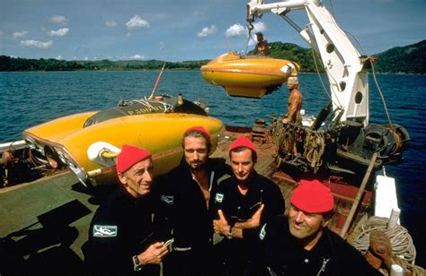 schip jacques cousteau jacques cousteau and crew aboard the research ship calypso