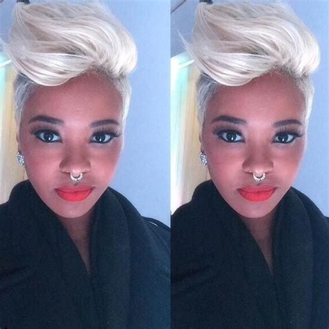 black and platinum hairstyles 50 short hairstyles for black women pompadour straight