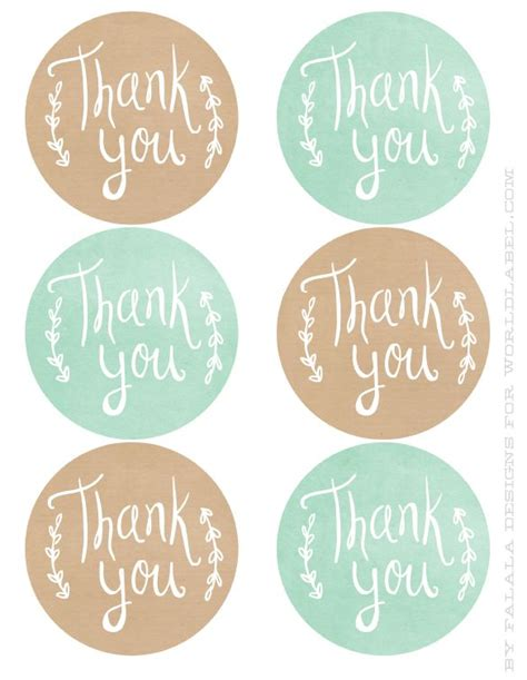 thank you sticker template best 25 thank you labels ideas on