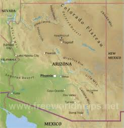 physical map of arizona