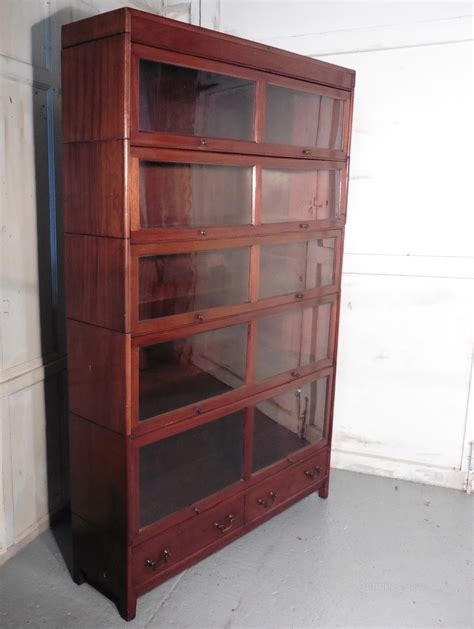 bookcase with file cabinet large mahogany barristers bookcase filing cabinet
