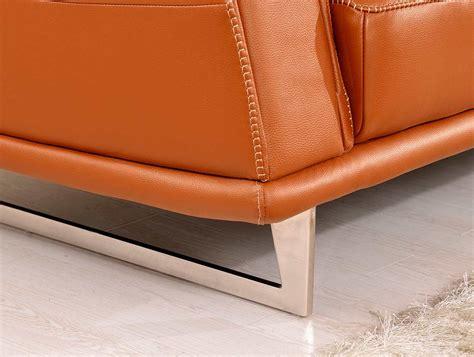 orange modern sofa modern orange leather sofa ef531 leather sofas
